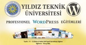 Yıldız Teknik Üniversitesi Profesyonel WordPress Eğitimi